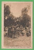Albania Albanie Valona Bersagliere Tra I Bambini Cp 1917 Timbro Censura Base Navale - Albania