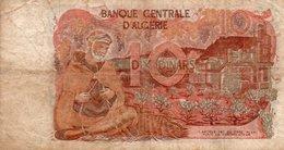 ALGERIA 10 DINARS 1970  P-127- CIRCOLATA - Algeria