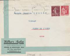 Creil  - Flamme De 1937 - Postmark Collection (Covers)
