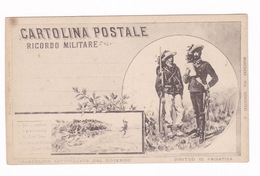 CPA Illustrée, Italie, Cartolina Postale Ricordo Militare - Militari