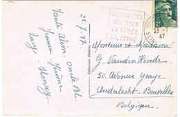 DAGUIN DE CHARTRETTES SUR CPA LES BARRAGES - Mechanical Postmarks (Other)