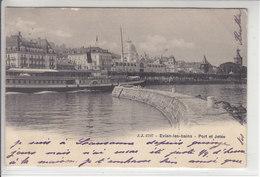 VAPEUR(S) SUR LE LAC LEMAN - LE GENEVE  AU PORT D'EVIAN LES BAINS - DOS UNIQUE - 26.05.04 - VD Vaud