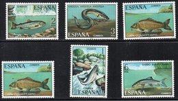 SPAGNA 1977 - FAUNA - PESCI DI FIUME  - SERIE COMPLETA - MNH ** - 1971-80 Ongebruikt