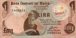 MALTA 1 LIRA -POUND 1979  P-34- CIRCOLATA - Malte