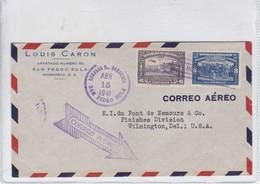 HONDURAS. LOUIS CARON. AIRMAIL. CIRCULEE TO USA. AVEC AUTRES MARQUES -TBE-BLEUP - Honduras