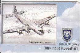 TURKEY(chip) - Airplane, C-54D Skymaster 1959-74 2(50 Units), Used - Avions