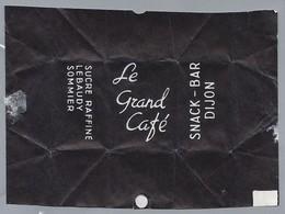 Suikerwikkel.- Embalage De Sucre. Le Grand Café. SNACK - BAR DIJON. SUCRE RAFFINE LEBAUDY SOMMIER. - Sugars