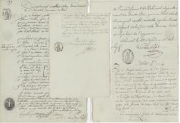 Commune De Vermes/Verme An 11 – 12.7.1803 Empreinte Sceau Papier Timbré - Fiscali