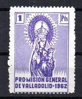 Viñeta Pro Mision General De Valladolid De 1962 - España