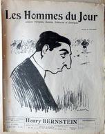 CARICATURES PORTRAITS POLITIQUE LITTERATURE SPECTACLE HENRY BERSTEIN   1911 - Journaux - Quotidiens
