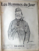 CARICATURES PORTRAITS POLITIQUE LITTERATURE SPECTACLE DRANEM  1910 - Journaux - Quotidiens
