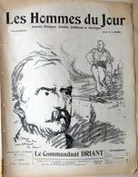 MILITARIA CARICATURES PORTRAITS POLITIQUE LITTERATURE SPECTACLE CAPITAINE DRIANT (DANRIT)  1913 - Journaux - Quotidiens
