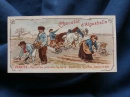 Chromo Chocolat D'Aiguebelle  Février  Planter Les Pommes De Terre, Semer Les Légumes, Rouler Le Blé - L376 - Aiguebelle