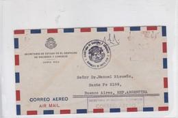 COSTA RICA. SECRETARIO DE ESTADO, DESPACHO DE HACIENDA Y COMERCIO, TO BUENOS AIRES. AIRMAIL. AUTRES MARQUES-TBE-BLEUP - Costa Rica