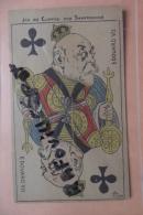C P  Roi De Trefle Edouard VII Signe Piron , - Jeux Et Jouets