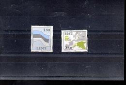 ESTONIE 188/189** SUR LES SYMBOLES NATIONAUX - Estonie