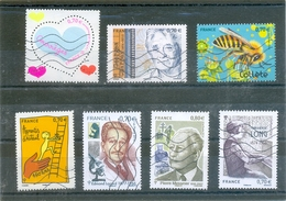 2016 FRANCE Y & T N° 5024 - 5032 - 5034 - 5035 - 5037 - 5043 - 5051 ( O ) Les 7 Timbres - France