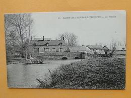 SAINT SAUVEUR Le VICOMTE  (Manche) -- Le Moulin - Embarcation - ANIMATION - Saint Sauveur Le Vicomte