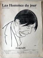 CARICATURES PORTRAITS POLITIQUE LITTERATURE SPECTACLE FORAIN  1910 - Journaux - Quotidiens