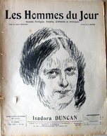 CARICATURES PORTRAITS POLITIQUE LITTERATURE SPECTACLE ISADORA DUNCAN DANSE   1913 - Journaux - Quotidiens