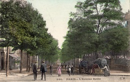PARIS L'AVENUE REILLE VILLE DE PARIS NETOYAGE DES RUES (CARTE COLORISEE) - Arrondissement: 14