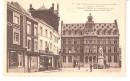 Halle-Hal -(Vlaams Brabant-Flamand)-Stadhuis-Standbeeld Violoncellist Servais-Hôtel De Ville-commerces-Delhaize Le Lion - Halle