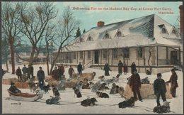 Delivering Fur For The Hudson Bay Co, Lower Fort Garry, Manitoba, C.1910 - Valentine's Postcard - Manitoba