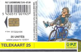 Luxembourg - P&T - Youth Cycling - TJ16 - 07.2009, Used - Luxembourg