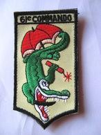 ECUSSON TISSUS PATCH COMMANDOS MARINE COMMANDO HUBERT 61° COMMANDO SUR VELCROS ETAT EXCELLENT - Army