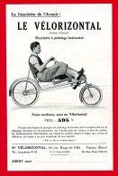 Flyers 21 Cm X 13,5 Cm (Réf C198) (VIEUX PAPIERS) PUBLICITÉ - LE VÉLO HORIZONTAL - Publicités