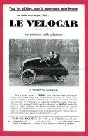 Flyers 21,5 Cm X 14 Cm (Réf C199) (VIEUX PAPIERS) PUBLICITÉ - LE VÉLOCAR - Publicités