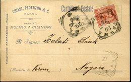 32856g  Italia, Circuled Card Parma 1900 Chiari Pederzini, Cylindermill, Zylindermuhle - Mulini