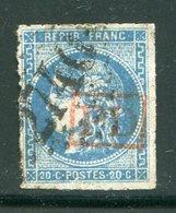 Y&T N°46A- Oblitération PD En Rouge - 1870 Ausgabe Bordeaux