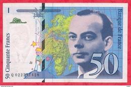 """50 Francs """"St Exupéry"""" 1994 N °Q 022251428 -----XF/SUP+ (TRES BEAU BILLET) - 1992-2000 Last Series"""