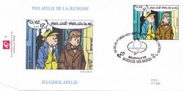 2843  BD P1326 FDC   Rare Guus Slim Gil Jourdan Maurice Tilleux 2-10-1999 1020 Bruxelles €10 - 1991-00