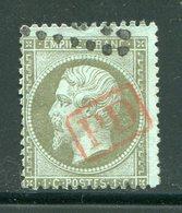 Y&T N°19- Oblitération PD En Rouge - 1862 Napoleone III