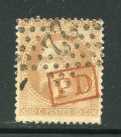 Y&T N°28A- Oblitération PD En Rouge - 1863-1870 Napoleone III Con Gli Allori