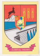 Romania Old Uncirculated Postcard  - Coat Of Arms - Neamt Region - Postkaarten