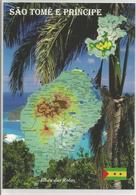 AK Map Sao Tome Und Principe - Afrik. Inselstaat - Sao Tome And Principe