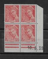 Coin Daté Mercure N° 412 De 1939 ** TTBE - Cote Y&T 2020 De 1 € - 1930-1939