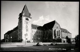 [034] Wiener Neustadt Burg, ~1950, Verlag Egelsseer, VW-Käfer - Wiener Neustadt