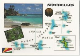 AK Map Seychellen - Ind. Ozean - Seychelles