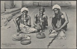 Snake Charmers, Ceylon, C.1910 - Plâté Ltd Postcard - Sri Lanka (Ceylon)