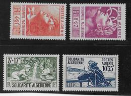 ALGERIE - YT N° 249/252 * CHARNIERE LEGERE - COTE = 14 EUR. - Algérie (1924-1962)