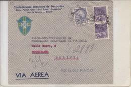 BRAZIL BRESIL. CONFEDERAÇAO BRASILEIRA DE DESPORTOS. AIRMAIL. RECOMMANDE. CIRCULEE TO BOLIVIA.-TBE-BLEUP - Airmail