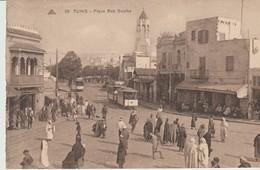 CPA -  TUNIS - PLACE BAB SOUÏKA - 58 - C. A. P.  ANIMEE -TRAM - Túnez