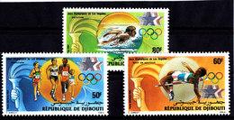 Olympics 1984 - Swimming - DJIBOUTI - Set MNH - Ete 1984: Los Angeles