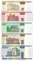 Belarus - Pick 24 To 28b - 20, 50, 100, 500, 1000 Rublei 2000 - 2011 - Unc - Set 5 Banknotes - Bielorussia