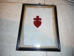 Très Ancien Scapulaire, Emblême De Chouans - Army & War