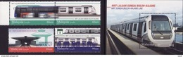 Malaysia 2017 S#1689-1692 MRT Set+M/S MNH Transport Train Railway Bus Disabilities Disabled Unusual - Malaysia (1964-...)